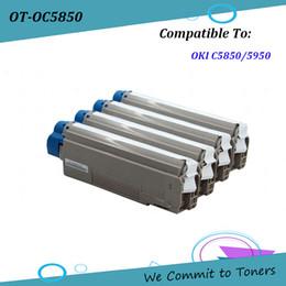 Cartridge oki online shopping - OKI C5850 Compatible Toner Cartridge for OKI C5850 C5950 OKI BK C M Y pages