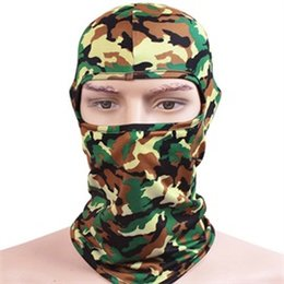 $enCountryForm.capitalKeyWord NZ - Quality Camouflage Motorcycling Balaclavas Men Digital Camo Full Face Masks Women One Hole Green Balaclava Beanies for Sports Wholesale