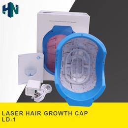 2018 Date !!! Portable MicroCurrent Stimulation Repousse Des Cheveux Laser LED Luminothérapie Massager Croissance Des Cheveux Cap De Perte De Cheveux Traitement en Solde