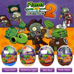 Plants Vs Zombies Stuff Toy NZ - 4 Styles 9cm PVC Plants vs Zombies Peashooter Action Figure Model Egg Stuffed Plush Funny Shoot Toy Gifts For Children Baby Toys