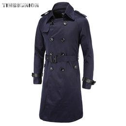 $enCountryForm.capitalKeyWord NZ - Men Trench Coat Classic Double Breasted Trench Coat Masculino Male Autumn Clothing Long Jackets Coats British Style Overcoat
