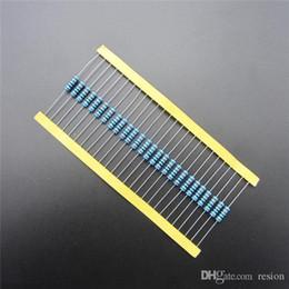 Discount resistor metal film ohm - Wholesale-50pcs lot Metal Film Resistor 470 ohm +-1% 1W Resistor DIY KIT PARTS resistor pack resistance