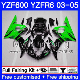 Yzf r6 fairing green online shopping - Body For YAMAHA YZF600 YZF R6 YZFR6 Bodywork HM YZF R YZF YZF R6 Green flames hot Fairings Kit