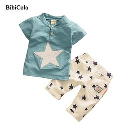 f86fecf49 Cola Baby Boys Summer Clothing Sets Kids Children Clothes Pentagram New Summer  Boys Clothes Set T-shirt + Shorts
