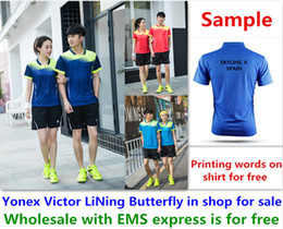 $enCountryForm.capitalKeyWord NZ - Wholesale EMS for free, Text printing for free, new badminton shirt clothes table tennis T sport shirt clothes A46
