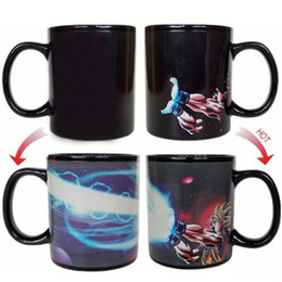 heat reactive mug NZ - Cartoon Drinkware Goku Mug Heat Reactive Coffee Cup Dragon Ball Z Mug Colored Changing Ceramic Magic Cups