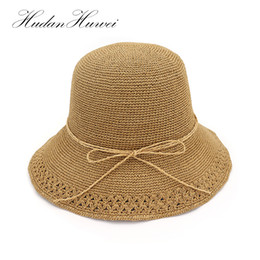 Boater Hat Men Canada - Summer Boater Hats For Women Straw Sun Hat Lady  Girls Hand 7b0a117b8493