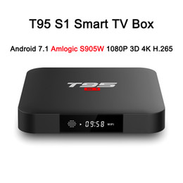 T95 S1 Android 7.1 TV BOX 2GB RAM 16GB ROM Amlogic S905W Quad Core 2.4GHz WiFi for Smart TV on Sale