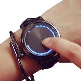 New Watch Touch Screen Australia - GSWP Brand creative minimalist leather waterproof Touch screen LED watch men and women lovers watch smart electronics watches