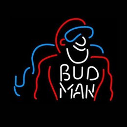 "$enCountryForm.capitalKeyWord Canada - BUD MAN Hand-crafted Real Glass Neon Sign Custom Beer Bar Disco KTV Club Store Motel Advertising Display Neon Signs 20""X24"""