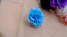 White floWer brooches online shopping - 10 Cm Artificial Flower Silk Rose Heads Wedding Christmas Party Colors Diy Jewelry Brooch Headwear Arches Flowers