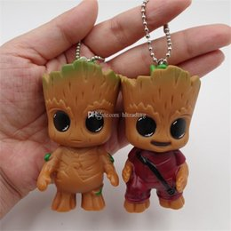 $enCountryForm.capitalKeyWord Australia - 2017 new Guardians of the Galaxy Action Figures cartoon Groot Mobile phone Bag Pendant 7.5cm 3inches C2324