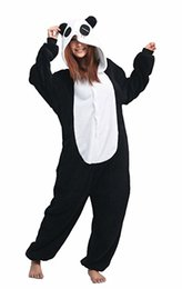 pijamas para adultos de panda venda por atacado-Fantasia Cosplay Animal Unisex Pijama Panda Adulto