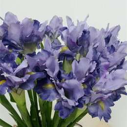 ArtificiAl flower for decorAtion tAbles online shopping - Flower Branch Artificial Irish Iris Flower Fleurs Artificielles for Autumn Wedding Table Accessory Home Decoration Fake Irish Flowers