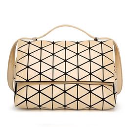 b26a690a42 2018 New Fashion Japan Style Laser Baobao Bag Geometric Fold Over Diamond  Luminous Women Brand Handbags Bag Bao Bao Issey Sac