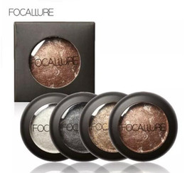 Discount baked eye shadow - FOCALLURE 10 Colors single Baked Eyeshadow Eye shadow Palette in Shimmer Metallic Eyes Makeup Cosmetics Tools for Eyes M