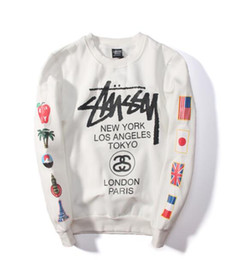 Nova marca maré suéter de cashmere com casuais hip hop estudante maré e manga longa jaqueta reta venda por atacado