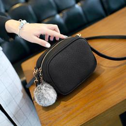 Discount best european phones - Best selling new ladies bag Fashion trend shoulder bag mini hair ball PU handbags Messenger bag small bags wholesale