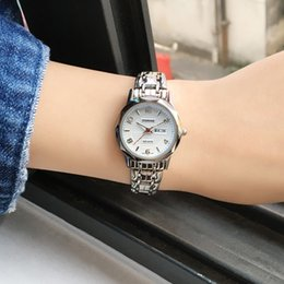 casual sapphire blue dress 2019 - OTS Sapphire Window Stainless Steel Band Womens Watches Top Brand Quartz Watch Women Dress Bracelet Watch Casual Women&#