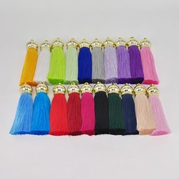 Chinese  Charm Rayon Admiralty Tassel Pendants Key Chain DIY Accessories Bag Keyring 6.5cm Earrings Fringe Jewelry Souvenir 26 Styles Free DHL H667F manufacturers