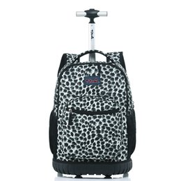 19abb933c52c Letrend Travel Duffle Cute Cartoon Cabin Capacity Backpack Student Rolling  Luggage Trolley School Bag Children Carry On Trunk