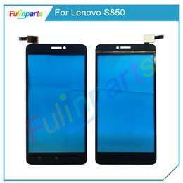 Wholesale best quality Front Touch Panel Sensor For Lenovo S850 Touch Screen Digitizer Outer Glass Lens Replacement With Tools Black White
