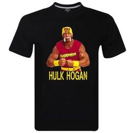 Novo Hall da Fama WEW Homens Fortes Hulk Hogan T Camisa 3D Melhor Qualidade Garantida Confortável t camisa Ocasional de Manga curta em Promoção
