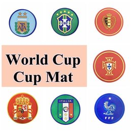 Fan diameter online shopping - 7 Styles Diameter cm Russia World Cup Fan Supplies Souvenir Sports Water Cup Mat CCA9525