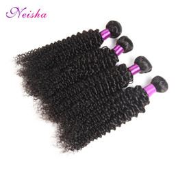 Discount virgin unprocessed afro hair - Mongolian kinky curly hair extension 4 piece lot 8-26inch Mongolian virgin hair weaving afro kinky curly virgin hair unp