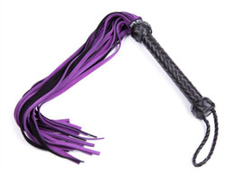 China Genuine Leather Fetish Sex Whip BDSM Bondage Whips Flogger Ass Spanking Device Tool Sex Toys For Couples GN296500119 cheap leather spanking tools suppliers