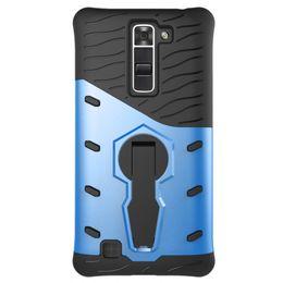 Shockproof Case Phone NZ - Sniper Hybrid Robot Armor ShockProof 360 Kickstand Back Soft cell phone Case Cover for LG k7