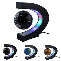 Office desk gifts online shopping - Antigravity C Shape LED Floating Globe Magnetic Levitation Tellurion World Map Home Office Desk Decor Gifts US UK EU AU Plug
