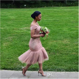 Lavender Blush Wedding Dress Australia - Bridesmaid Dresses 2018 Blush Pink Country Off Shoulder Beach Wedding Party Guest Dresses Arabic Dubai Junior Maid of Honor Dress Cheap
