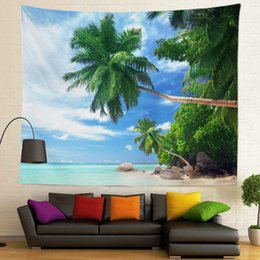 Sublimation Cotton NZ - Wholesale High Definition Ocean Picture Sublimation Printed Custom Size New View 130x150cm 400g Wall Tapestry for Home Decoration