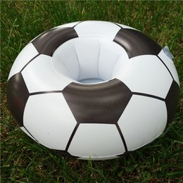 Discount inflatable orange - 2018 Russia World Cup Summer Football Cups Holder Water Play Floats Swimming Supplies Inflatable Drink Coaster Soccer Be
