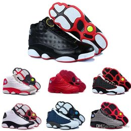 China [With Box]2016 New 13S China mens basketball shoes top quality outdoor sports shoes for men many colors US 8-13 Free Drop Shipping cheap black shoe boxes for shipping suppliers