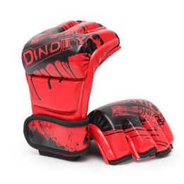 White Summer Gloves NZ - unisex boxing training M L Half Finger Boxing Gloves Sanda Fighting Sandbag MMA gloves red black white