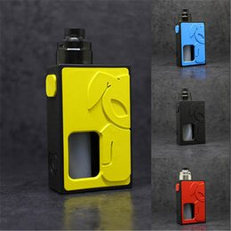 bottom feeder box mod NZ - BF Squonker kit Mechanical BF Box Mod Bottom Feeder Mech Mod Plus SOLO RDA with 8ML silicone squonk bottle DHL free