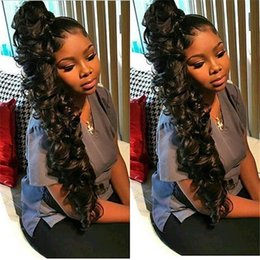 $enCountryForm.capitalKeyWord Australia - Pre Plucked Full Lace Human Hair Wigs Natural Hairline Virgin Indian Deep Wave Curly Hair Lace Front Wigs