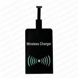 Discount qi wireless charger receiver module - 300PCS Qi Wireless Power Charger Receiver Film Wireless Charger Charging Receiver Module Sticker for Apple IPhone 5 5s 6