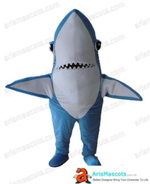 Shark maScot adultS online shopping - Adult Shark mascot costume ocean animal character costumes for sale cute mascot costumes professional deguisement mascotte custom mascots