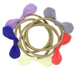 Messy Headbands Australia - 4'' Bows Headband Girls Nylon Headband With Messy Bow Headband Nylon 50pcs Lot 10 Colors Headwear Ribbons