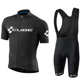 Cube jersey bib online shopping - Pro new Summer CUBE Cycling Jerseys Set Men MTB Bicycle Clothes Ropa Ciclismo Breathable bicycle Short Sleeves Wear Shirt bib shorts