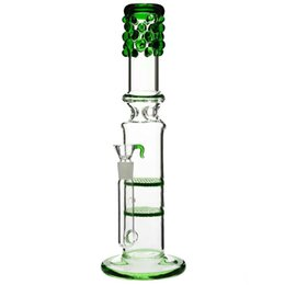 Bling glasses online shopping - Glass bongs honey combs quot Bling Bling Betty quot double honeycomb Percolator splash guard water pipe mm bowl green quot
