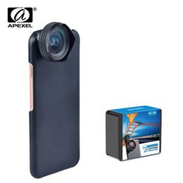 $enCountryForm.capitalKeyWord UK - APEXEL Optic Pro Lens universal 18mm 0.63X Super Wide angle Lens HD Portrait mobile phone lens for x 7 8 6s plus 5 se