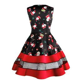 5a25cfe7143 Women Xmas Dress Canada - Womail Womens Santa Snowman Christmas Dress  Sleeveless Xmas Swing Retro Dresses