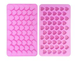 Cupcake Holes Australia - Hot Home Bar 55 Holes Bake Cake Mold 1.5 Mini Heart Silicone Chocolate Fondant Jelly Cookie Muffin Ice Mould Flexible Moulds Cupcake Mold