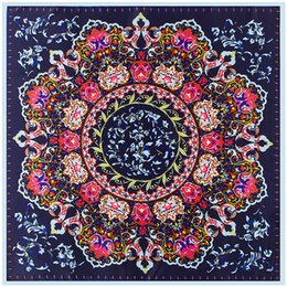 Chinese  Designer Scarf Summer Twill Silk Scarf for Women Scarves Wraps Bandana Hair Scarf Print Chain Plaid Floral Etc Women Square Silk Scarves manufacturers