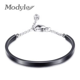 $enCountryForm.capitalKeyWord Australia - Modyle Silver Gold Rose Gold Black Colors 316L Stainless Steel Crystal Bangels Bracelets for women