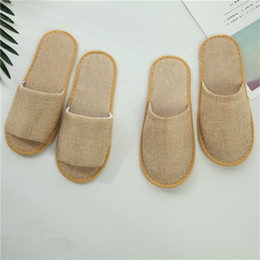 slippers for hotels UK - Brown Massage Baboosh Business Trip Convenient Quick Home Based Disposable Slippers Comfortable Soft Babouche For Hotel 1 4ty ff